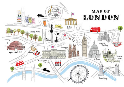 Things to see in London, a map by Kasia, Zosia, Gosia